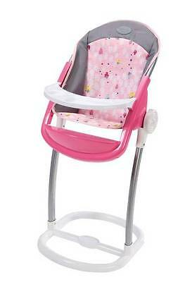 New Zapf Creations Baby Born Doll Pink Toy Highchair 822272