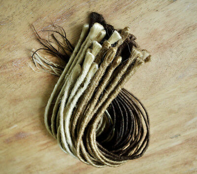 Dreadlock Extensions Backcombed - Single End 50cm long & Pencil Thin - 10 pack