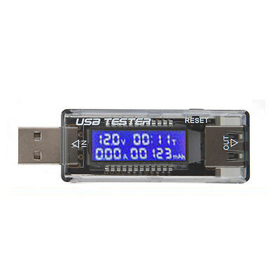 USB Charger Doctor Capacity Time Current Voltage Detector Meter Support QC 3.0