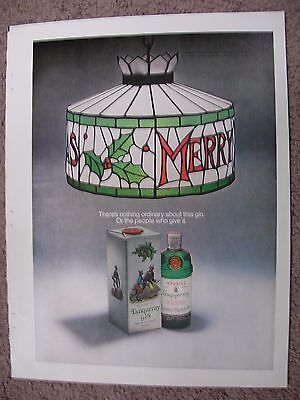 1970 Tanqueray Gin / Christmas Large Full Page Color Ad Free Shipping