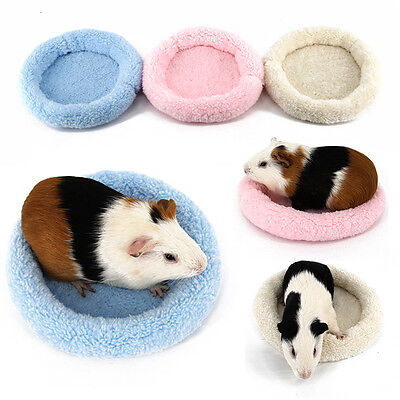 Soft Fleece Guinea Pig Bed Winter Small Animal Cage Mat Hamster Sleeping House