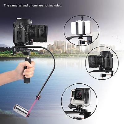 Video /Cam Stabilizer Handle Grip Steadicam with Phone Clip for DSLR Camera H3F1