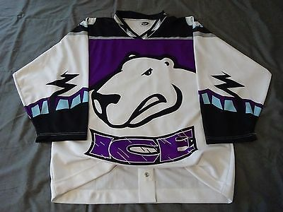 INDIANAPOLIS ICE authentic jersey CHL FIGHT STRAP XL indy fuel ihl