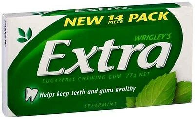 WRIGLEY'S EXTRA SPEARMINT SugarFree Gum - 14 Pieces