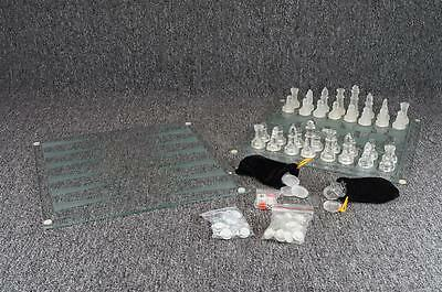 Fifth Avenue Ltd Crystal 3-In-1 Game Set - Chess/Checkers/Backgammon 95 Pieces