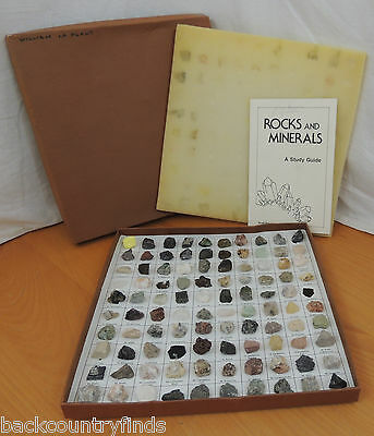 Vintage 1985 Minerals and Rocks of the United States Collection Display Study