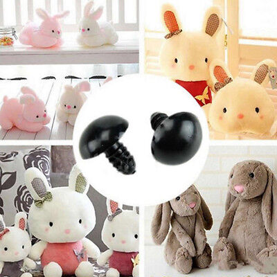 Safety Plastic Black Eyes for Teddy Bear Puppets Dolls Plush Toy Crafts 100Pcs