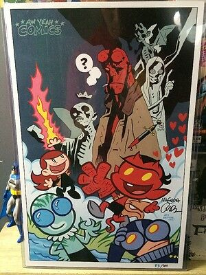 Mignola Hellboy Lithograph Print Signed & Numbered EXTRA LIMITED EDITION #83/100