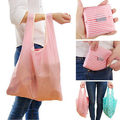 Women Foldable Reusable Nylon Eco Bag Storage Travel Shopping Tote Grocery Bags