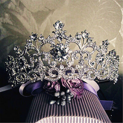 Bridal Crystal Tiara Crowns Hair Jewelry Rhinestone Wedding Pageant Headband