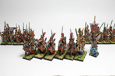 Warhammer Fantasy Age of Sigmar High Elf Army Aelves (Nicely Painted/Converted)