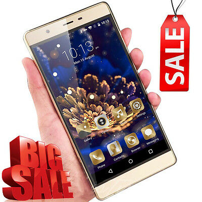 "UK New Smartphone 6"" Unlocked Android 5.1 Dual SIM Quad Core 3G Mobile Phone 8GB"