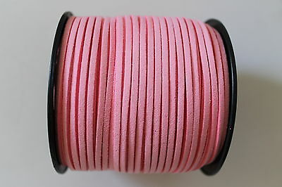 10 Meters Flamingo Pink Colour Suede Leather Cord