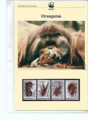 1989 WWF Orangutan MNH Stamps, FDCs and Information Sheets - issued 6 March 1989