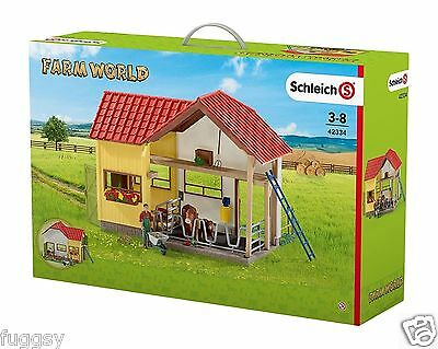 SCHLEICH Farm World Barn with Animals and Accessories 42334  Boxed NEW