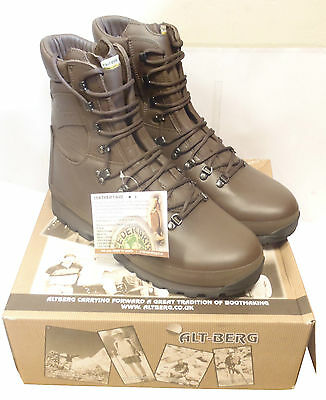 British Army - Altberg Combat Brown Defender Boots - Size 12 Large - New in Box