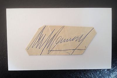 Alf Ramsey Signed England 1966 World Cup 5X3 Card 1