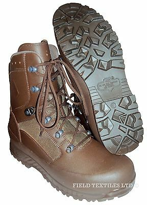 British Army - Haix Combat Liability Brown Boots - Size 8 Medium - New in Box