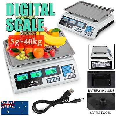 Digital Kitchen Postal Business Scale Electronic Price Computing Weight 5g- 40kg