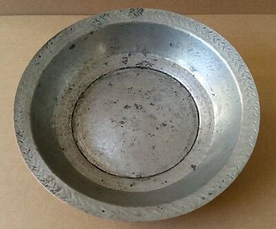ANTIQUE & GENUINE OTTOMAN ERA COPPER BOWL-PLATE ORNATE HAND FORGED XIXc. D=24cm.
