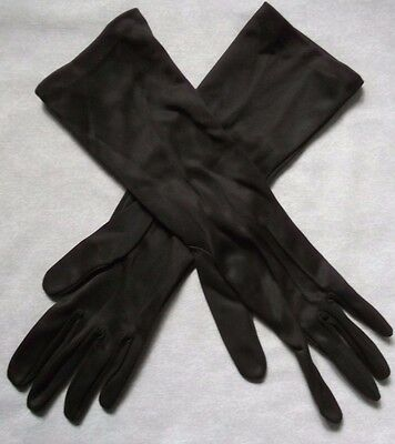 WOMENS LONG STYLE GLOVES VINTAGE 1960s 1970s BROWN SIZE MEDIUM 7 - 7.5 GLODIX