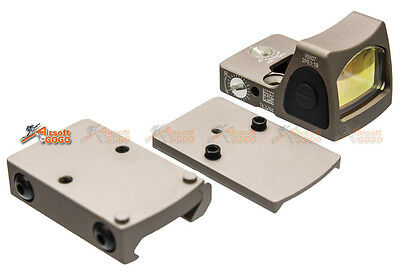 Adjustable RMR Red Sight Dot with 1913 / Marui & WE G17 GBB Mount (DE)