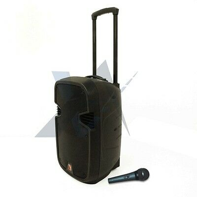 """Portable 12"""" USB/SD/AUX/MP3 Wireless Bluetooth PA Speaker System with Microphone"""