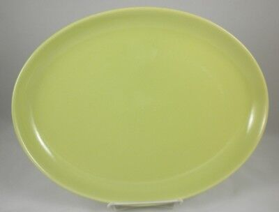 "Iroquois CASUAL - Early AVOCADO - Oval PLATTER  12.5"" - HTF! - Russel WRIGHT"