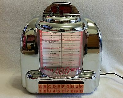 'Classic' Retro Chrome Jukebox Wall Box Collectors CR-9 Radio AM FM Cassette GWO