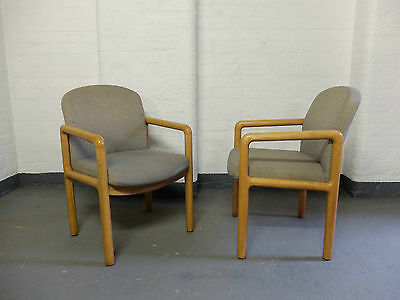 Gordon Russell Oak Upholstered Desk Arm Chair 3 AVAIL/SOLD SEPARATELY  (20C692)