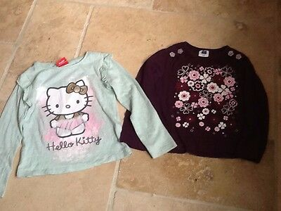 Girls Pretty Long Sleeve Tops Age 3- 4 years Great Condition