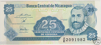 Nicaragua 25 Centavos Note