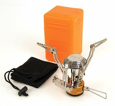 Fox Cookware Cannister Gas Stove + Mesh Carry Bag & Case