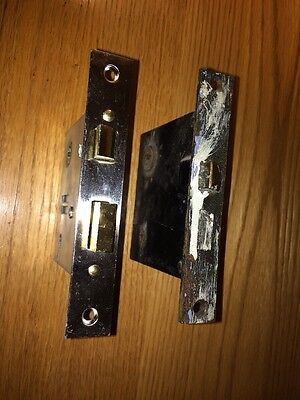 One 1 Vintage Door Lock Mechanism Worn