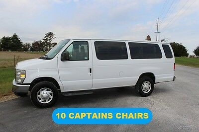 2013 Ford E-Series Van XLT 2013 XLT Used 5.4L V8 16V Automatic RWD Wagon Low Miles 10 Captains Chairs Nice
