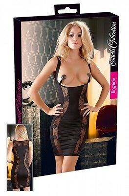 Cottelli Collection Lingerie Kleid Gr. M Kurvenstar Schwarz Busenfrei |66
