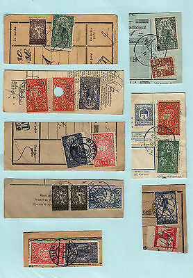 Yugoslavia - Issue Slovenia GREAT COLL. 8pc BILL OF DELIVERY cutting-out #49