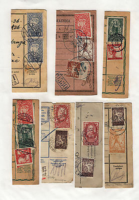 Yugoslavia - Issue Slovenia GREAT COLL. 7pc BILL OF DELIVERY cutting-out #47