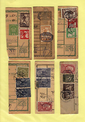 Yugoslavia - Issue Slovenia GREAT COLL. 6pc BILL OF DELIVERY cutting-out #48