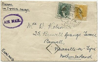 Iraq GB airmail cover by Imperial Airways flight 1934