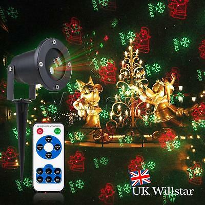 NEW 5 Imgs Moving LED Laser Projector Light Christmas Wedding Outdoor Waterproof