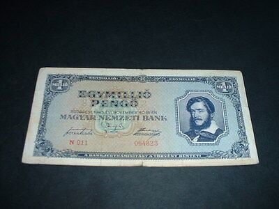 Hungary Ww2   Banknote 1945 1 Million Pengo  1 Invoice Covers All