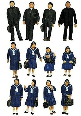 "Tomytec Model People ""Students (Winter Uniform)"" 1/150 N scale Ningen 112"
