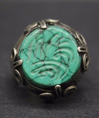 Interesting Antique Silver Ring With Islamic Calligraphy