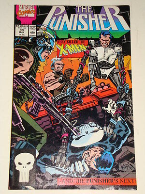 Marvel Punisher Issue # 33 May 90 'reaver Fever' Average To Good Condition