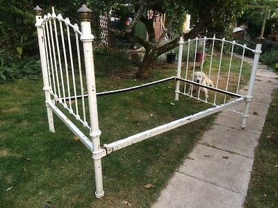 Antique Victorian wrought-iron bed frame