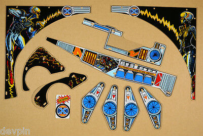 New Sealed Licensed 1980 Bally Xenon Pinball Playfield Plastic Set