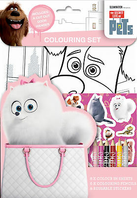 The Secret Life of Pets Colouring Set Childrens Activity Stickers Party Favour
