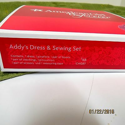 New  American Girl Doll Retired Addy Dress Sewing Set LE Good For Any AG Doll
