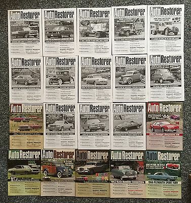 AUTO RESTORER The How-To Guide For Car & Truck Enthusiasts 20-Issue Lot Nr. Mint